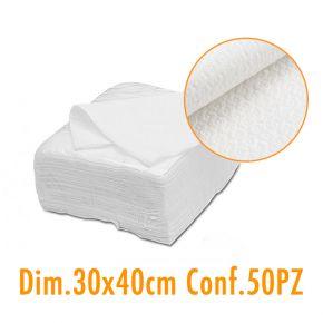 Salvietta asciugamano di carta monouso 30x40cm doppia esse - confezione 50pz