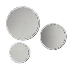 Set di tre specchi rotondi Tris Bubbles by Vismara dotati di illuminazione a LED