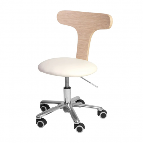 Height-adjustable stool Aloe Podo by Nilo with gas pump Cod. N8533P