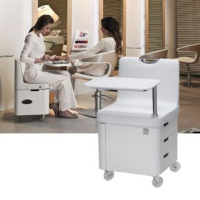 Manicure stool Profy Nails by Nilo SPA Design with 4 rotating drawers and adjustable shelf cod 18324