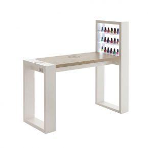 Manicure Living Led table by Vismara single workstation