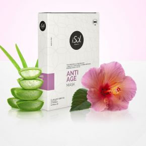 iSol Beauty ANTI-AGE MASK IN BIOCELLULOSA 100% CF. 5 PZ x 20ml cod.ISO.BIOCELL.200