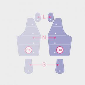Camere d'aria di ricambio Braccio completo destro DX per macchinario di pressoterapia Overline Italia