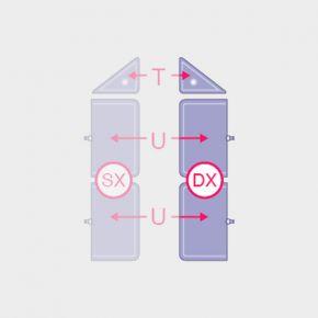 Camere d'aria di ricambio Ventriera addominale DX per macchinario di pressoterapia Overline Italia
