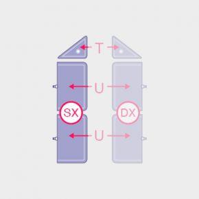 Camere d'aria di ricambio Ventriera addominale SX per macchinario di pressoterapia Overline Italia