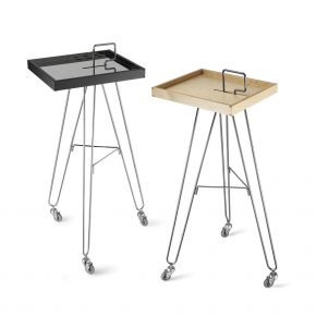 Hairdresser trolley TRIPED RM by Artecno structure chrome steel cod. 08 RM