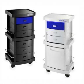 Trolleys STERILBOY UVC by Artecno equipped with an UVC lamp 9 watt with germicidal action