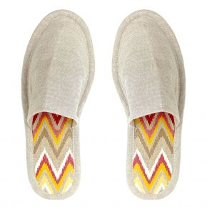 Eco-Bio ZigZag biodegradable slipper with wood pulp sole and bamboo viscose upper