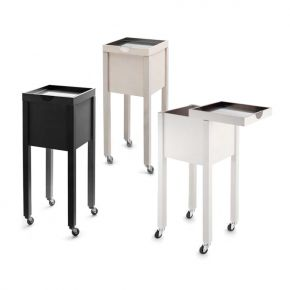 Trolley Kubico by Artecno sliding top with extractable steel tray