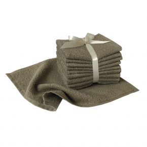 100% cotton terry washcloths size 30x30cm Made in Italy - Pack of 10 washcloths