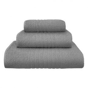 Set asciugamani Plissè in morbida spugna di cotone color grigio - 400g/m² uso professionale made in Italy