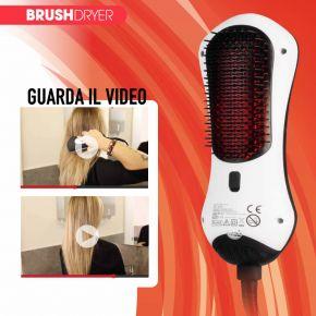 Brush Dryer spazzola + phon a infrarossi 2 in 1 che spazzola e asciuga i capelli contemporaneamente