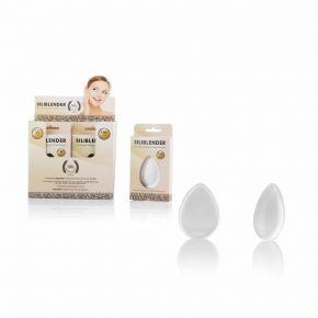 Espositore da 12 spugnette in silicone ideali per fondotinta, correttore e blush