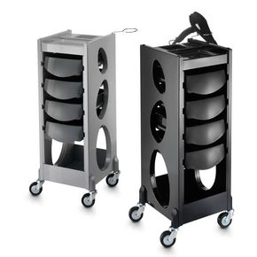 Cart with side drawers