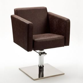 Swivel chair with rounded corners and cosy design