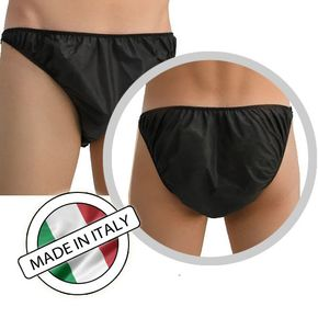 Unisex Underwear Black in NWF 40 gr. - Singolarly Packaged