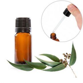 Olio essenziale puro all'Eucalipto in boccetta da 10ml con contagocce