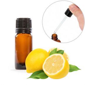 Olio essenziale puro al limone in boccetta da 10ml con contagocce