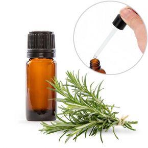 Olio essenziale puro al rosmarino in boccetta da 10ml con contagocce
