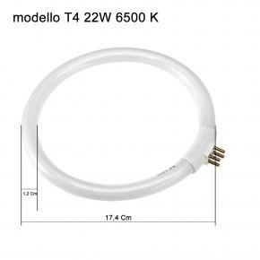 Circolina Neon di ricambio per lampada con lente di ingrandimento T4 22W