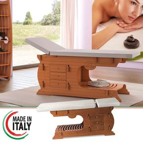 Wooden Massage bed with 3 drawers and bottom shelf