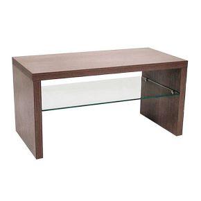 Tavolino con ripiano in cristallo per salone da parrucchiere o centro estetico