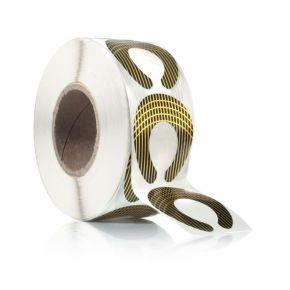 Forme adesive per ricostruzione unghie - 500 pz
