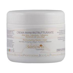 Crema mani ristrutturante Aloe - Calendula - Pantenolo - Cera d'api SkinSystem 1010020015 - Vaso 250ml