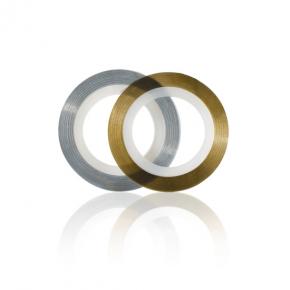Filo adesivo oro e argento per nail art confezione 6pz
