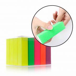 Mattoncini buffer per levigare e lucidare le unghie grane e colori assortiti - confezione 20 mattoncini