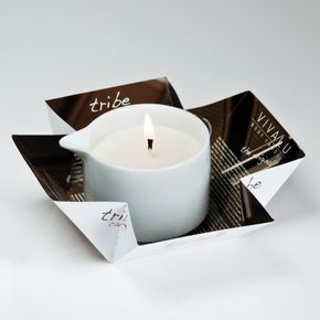 Cocoa cosmetic massage Candle