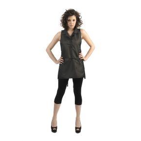 Grembiule donna con tessuto candeggiabile, 100% poliestere taglia unica colore nero