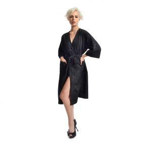 Kimono professionale parrucchiere 100% poliestere - taglia unica colore nero