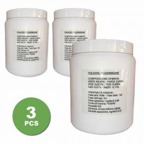 2 barattoli di polvere di corindone da 2 Kg