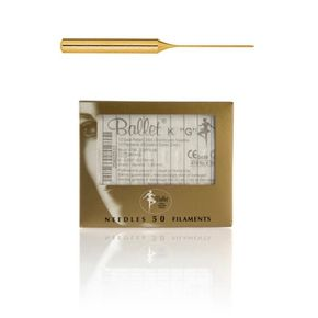 Ballet Sterile Disposable Electrolysis Needles K5 GOLD 24k 0.125mm