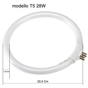 Circolina Neon di ricambio per lampada con lente D3 e D5 T5 28W