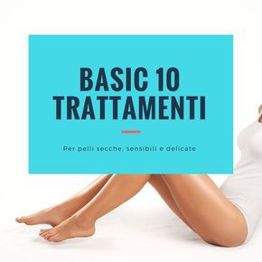 Kit epilazione BASIC 10 trattamenti per pelli secche, sensibili e delicate