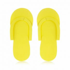 Infradito in materiale espanso EVA gialle confezione da 24 paia - taglia unica