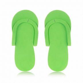 Infradito in materiale espanso EVA verdi confezione da 24 paia - taglia unica