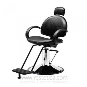 Unisex chair with leanable backrest and round base