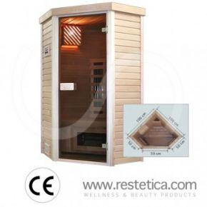 sauna ad infrarossi angolare