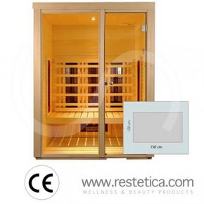sauna ad infrarosso rettangolare