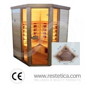 sauna infrarossi angolare
