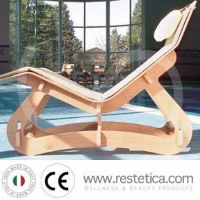 Chaise-longue in legno multistrato