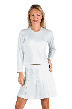 Maglietta stretch bianca manica lunga 95% cotone 200 gr/m2