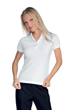 Polo donna mezza manica bianca 95% cotone 200 gr/m2