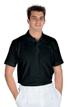 Polo unisex mezza manica 100% cotone 200 gr/m2 colore nero cod. RE125001