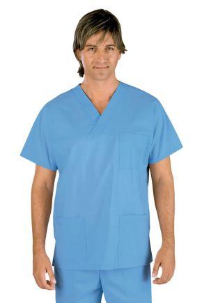 Casacca Uomo Collo a V 100% cotone colore Blu - cod. RE045042