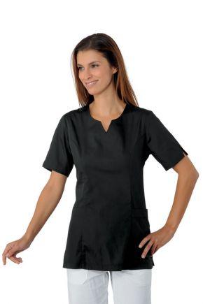 Casacca nera mezza manica con tasche laterali - cod. 047001