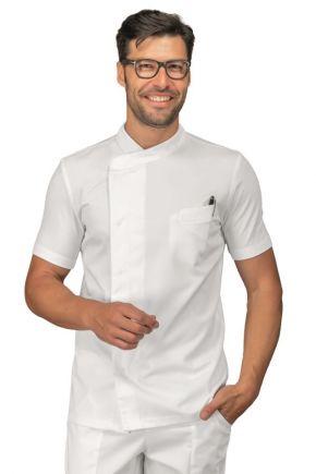 Casacca Uomo tessuto Jersey elasticizzato, fresco e traspirante a mezza manica Bianco - cod. 059110M